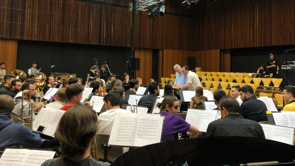 La Banda del Conservatori en el Festival Ensems
