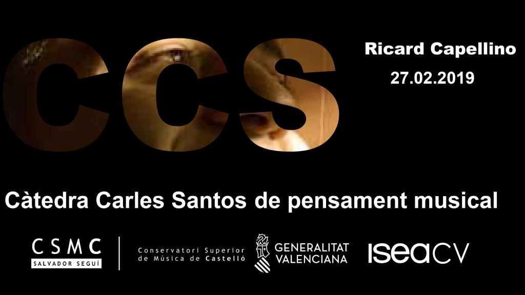 Conferència de Ricard Capellino al CSMC