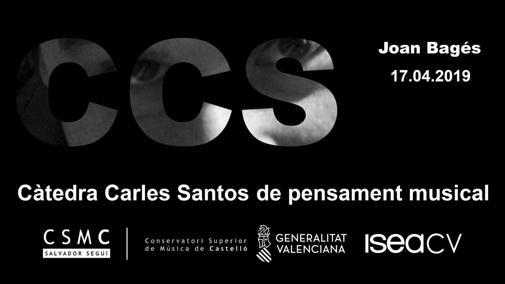 Conferència a càrrec del compositor i artista sonor Joan Bagés