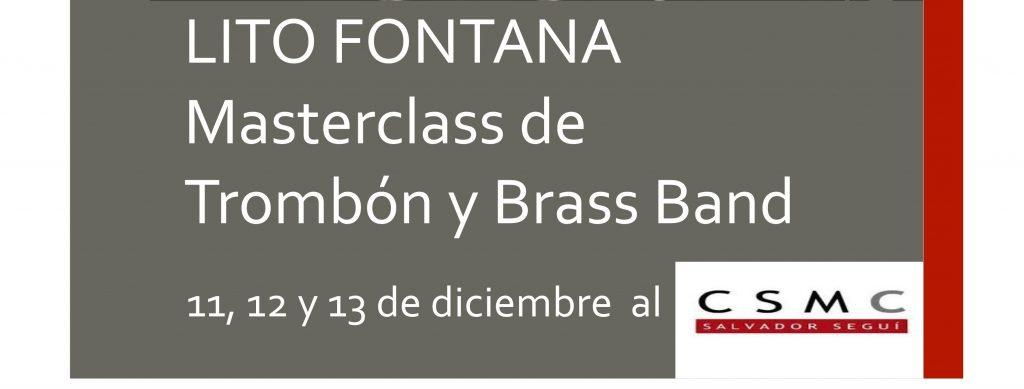 Masterclass de Trombó i Brass Band amb Lito Fontana