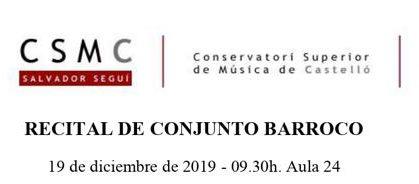RECITAL DE CONJUNT BARROC
