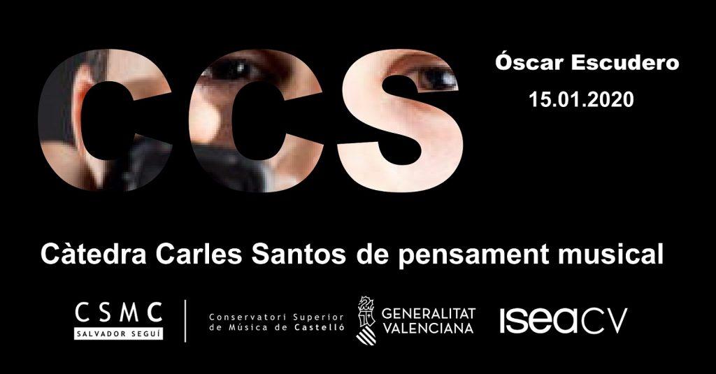 Conferència del compositor Óscar Escudero