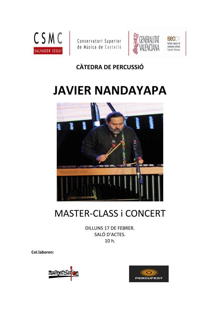 Màster Classe amb Javier Mandayapa (marimba)
