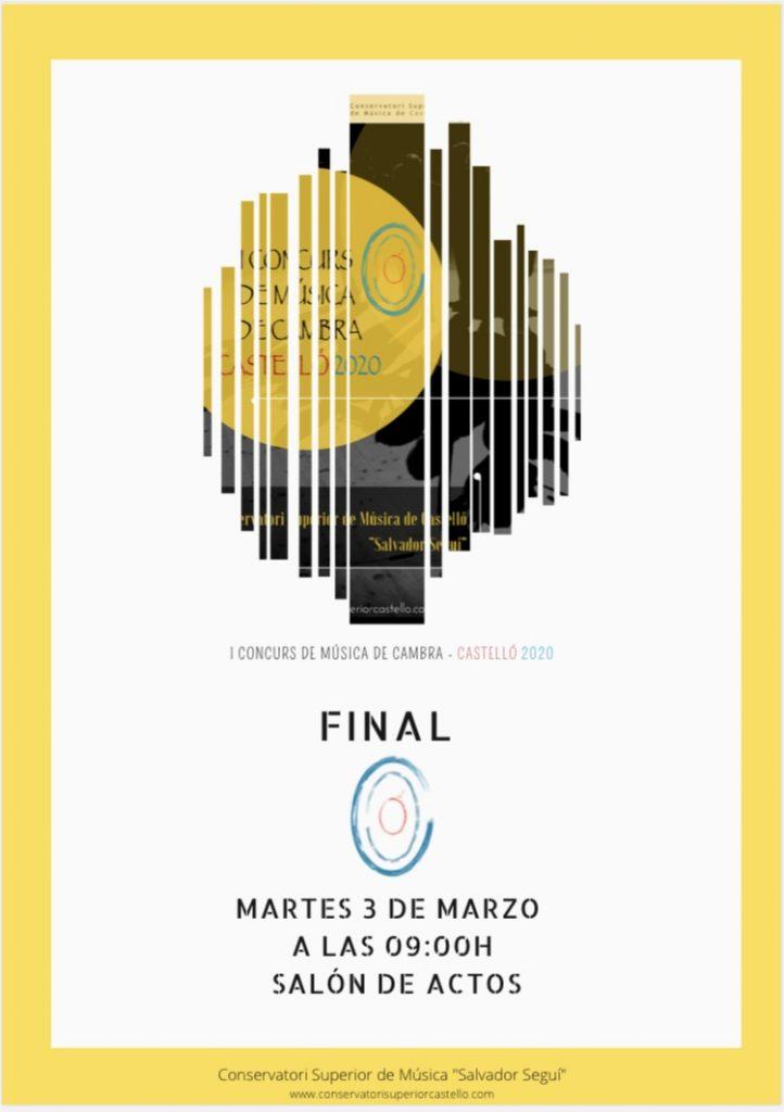 """Fase final del """"I Concurs de Música de Cambra"""""""