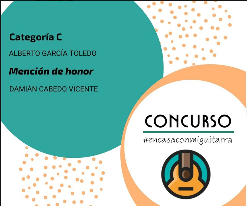 Alberto Garcia Toledo.  Ganador del Concurso de guitarra Estanislao Marco