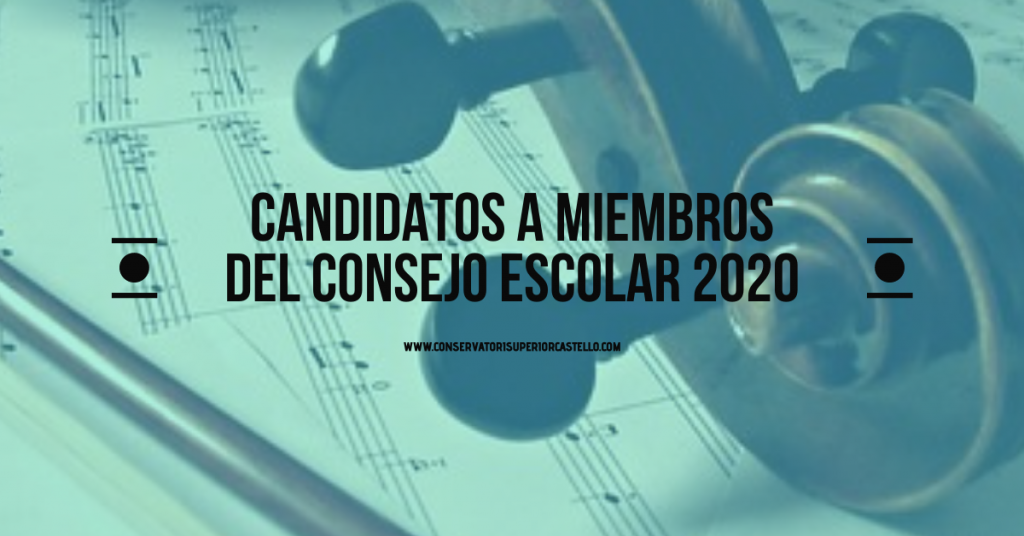 Candidats a membres del Consell Escolar 2020