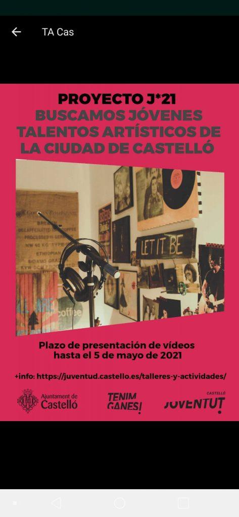 Joves talents artístics ciutat de Castelló